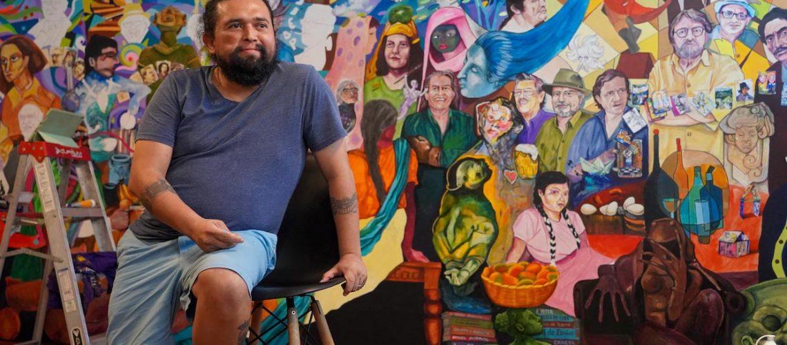 Renacho Melgar. Mural en el Café Luz Negra.